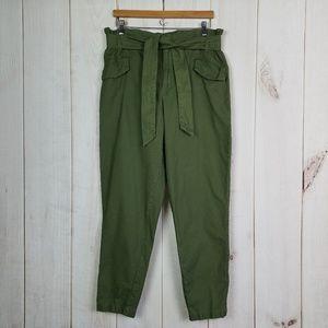 Gianni Bini | Army Green Paper Bag Tapered Pants